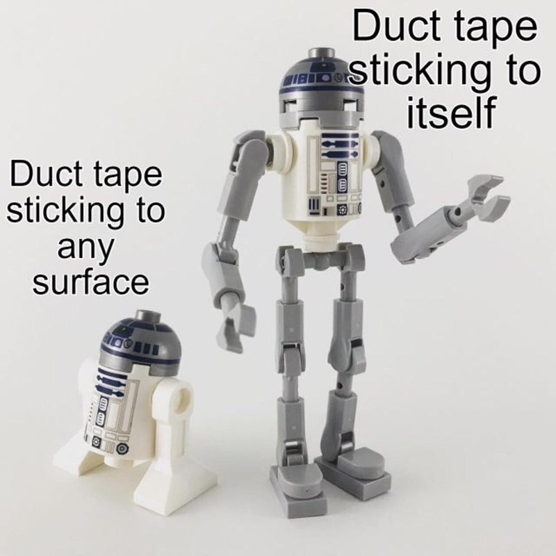 Product - Duct tape asticking to itself IBIDO Duct tape sticking to any surface