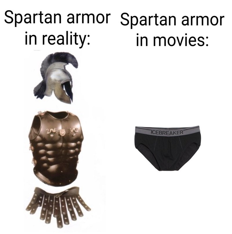 Outerwear - Spartan armor Spartan armor in reality: in movies: ICEBREAKER