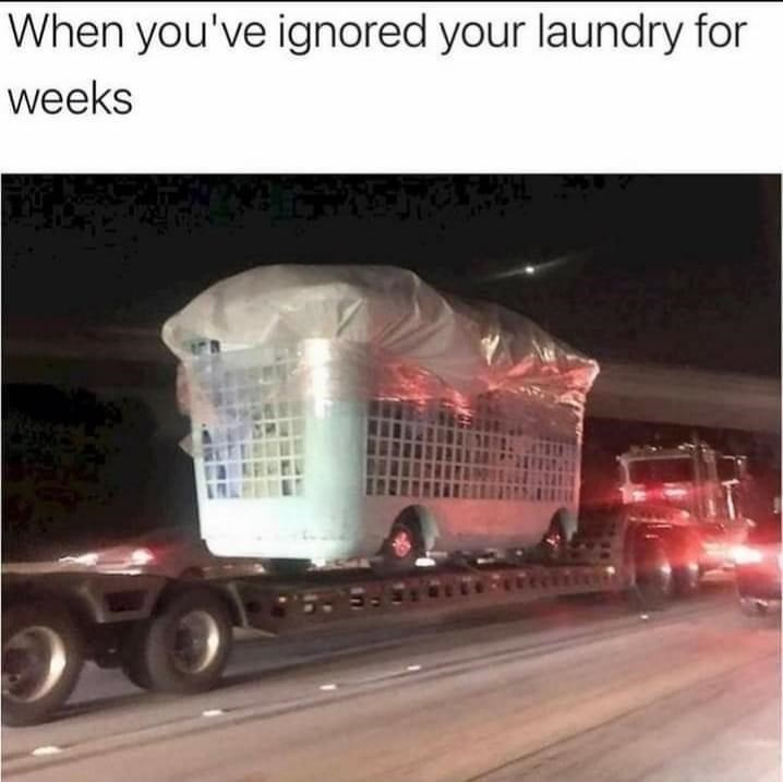 Tire - When you've ignored your laundry for weeks