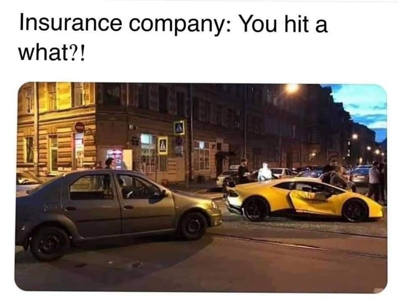 Wheel - Insurance company: You hit a what?!