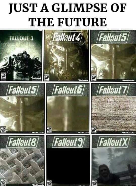 """Product - JUST A GLIMPSE OF THE FUTURE Falleut 4 Fallout5 FALLOUT 3 RP RP RP Ratheta Fallaut5 Fallsut6Fallsut7 RP RP RP Fallsut8 Fallout9 FallsutX RP RP """"Pethesda RP"""