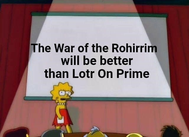 Yellow - The War of the Rohirrim will be better than Lotr On Prime