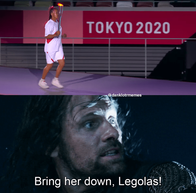 Flash photography - TOKYO 2020 @danklotrmemes Bring her down, Legolas!