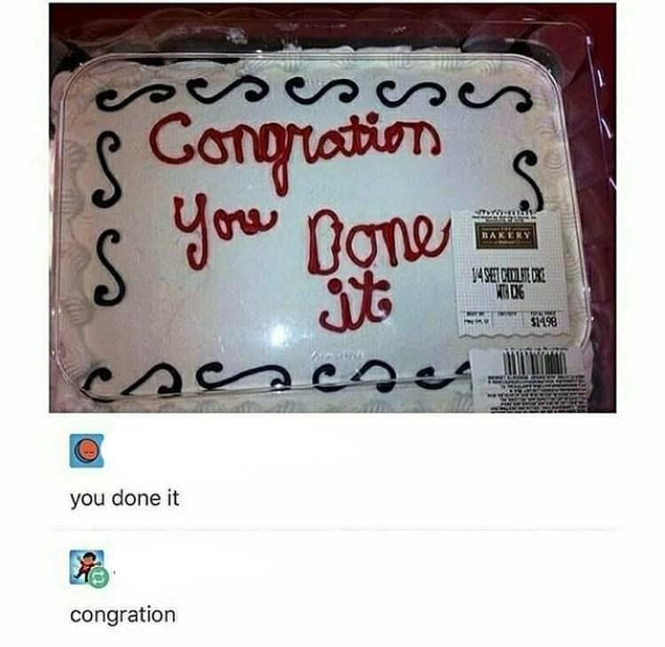 Handwriting - S Congration you BAKERY S1498 you done it congration