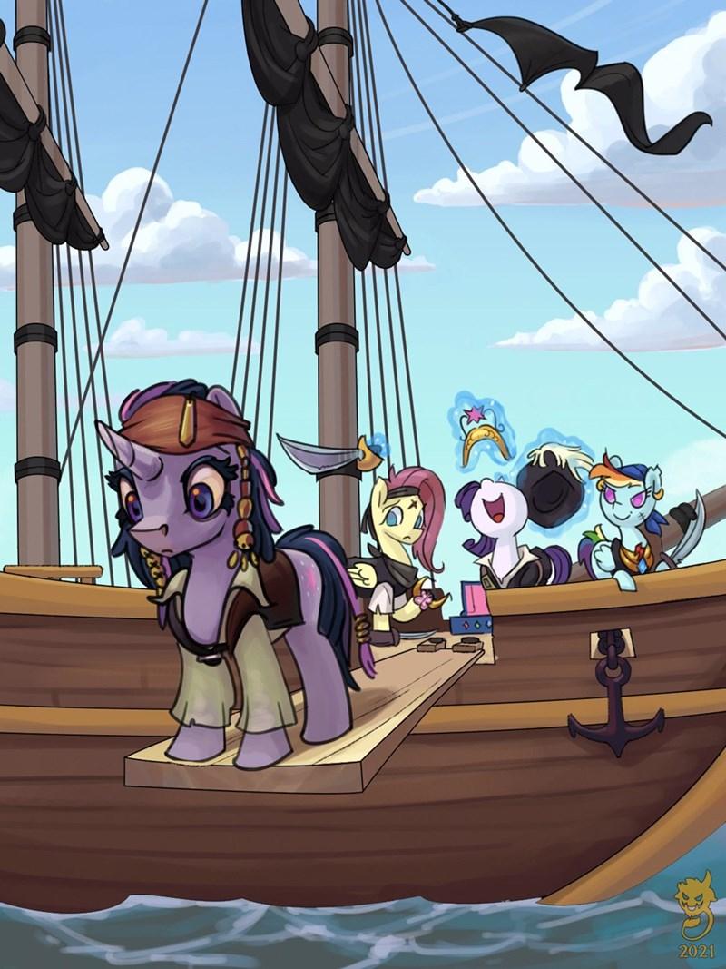 gor1ck twilight sparkle Pirates of the Caribbean rarity fluttershy rainbow dash - 9626258688