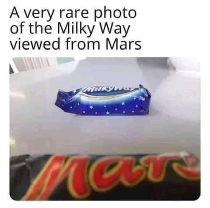 Rectangle - A very rare photo of the Milky Way viewed from Mars