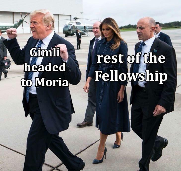 Footwear - Gimli headed to Moria rest of the Fellowship