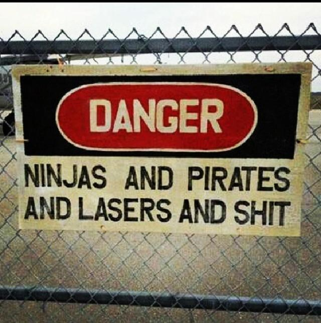 Motor vehicle - DANGER NINJAS AND PIRATES AND LASERS AND SHIT