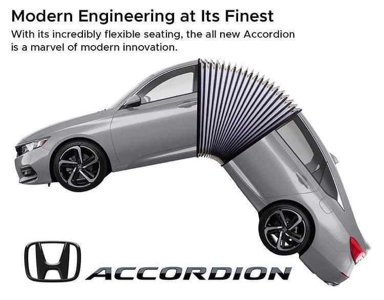 Tire - Modern Engineering at Its Finest With its incredibly flexible seating, the all new Accordion is a marvel of modern innovation. HACCORDION ACCOR DION