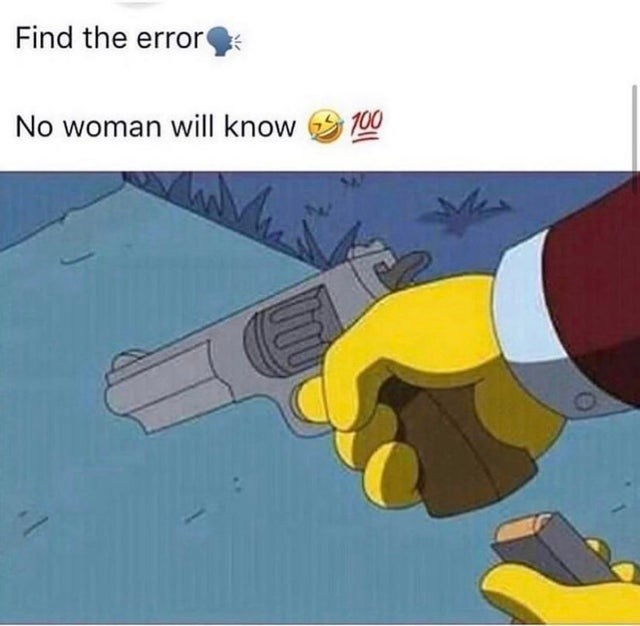 Product - Find the error No woman will know 100