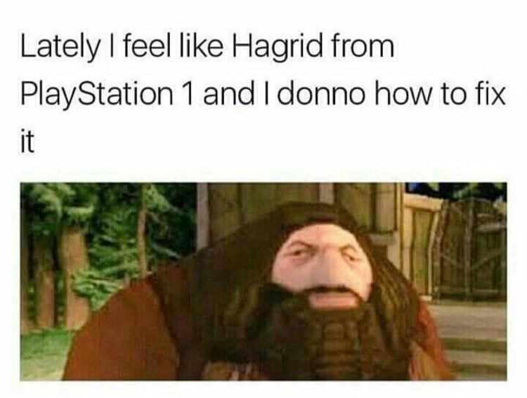 Human - Lately I feel like Hagrid from PlayStation 1 and I donno how to fix it