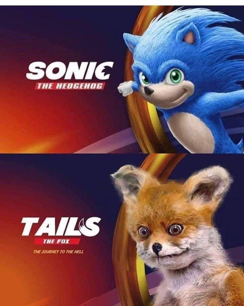 Cartoon - SONIC THE HEDGEHOG TAILS THE FOX THE JOURNEY TO THE HELL