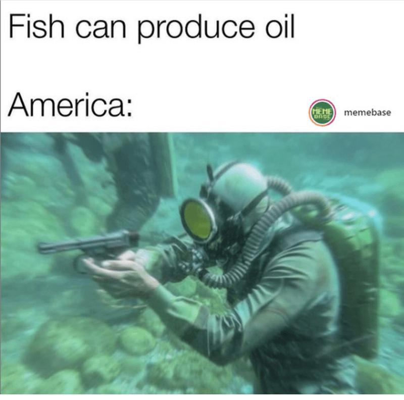Organism - Fish can produce oil America: MEME memebase