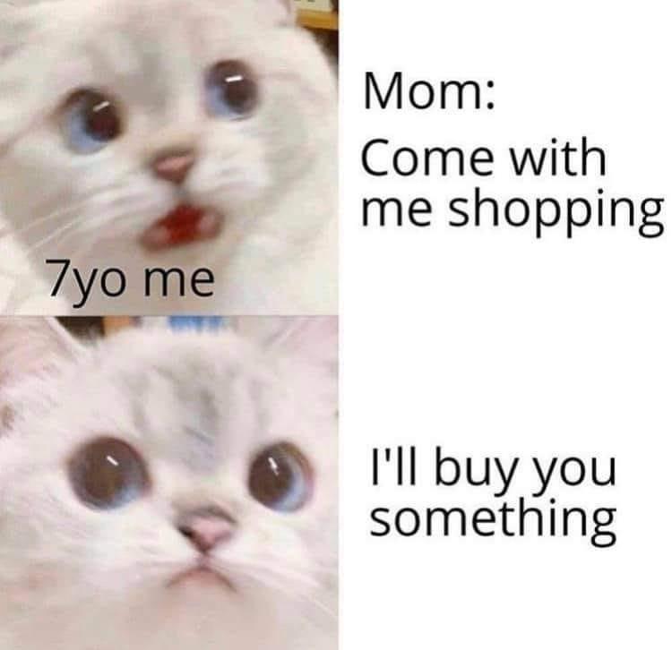 Nose - Mom: Come with me shopping 7yo me I'll buy you something