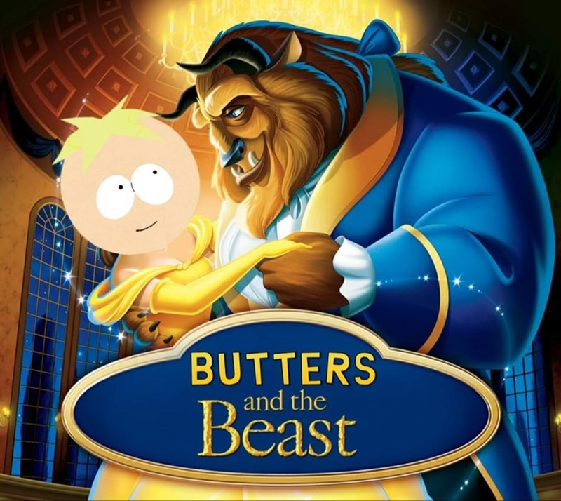 Cartoon - YE BUTTERS Beast and the