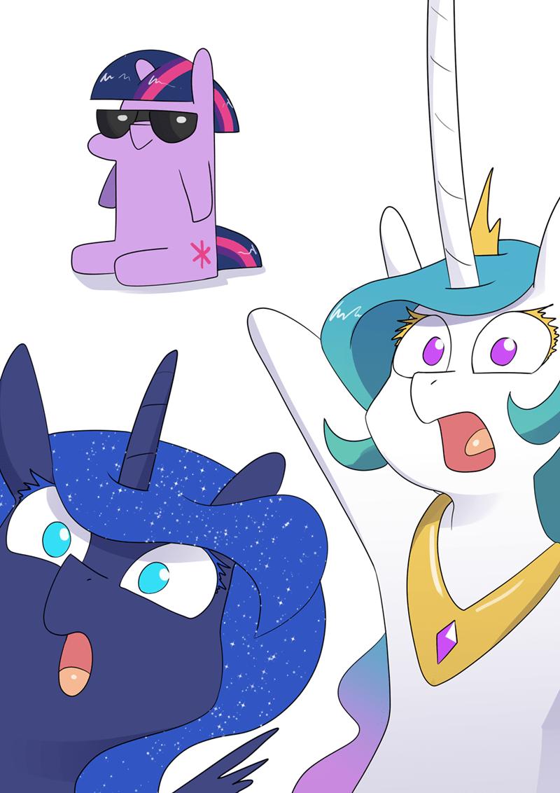 underpable twilight sparkle princess luna princess celestia - 9626957312