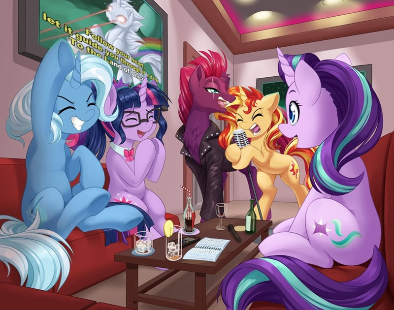 dstears tempest shadow the land of unicorns the great and powerful trixie starlight glimmer twilight sparkle gloryhammer sunset shimmer - 9626959360