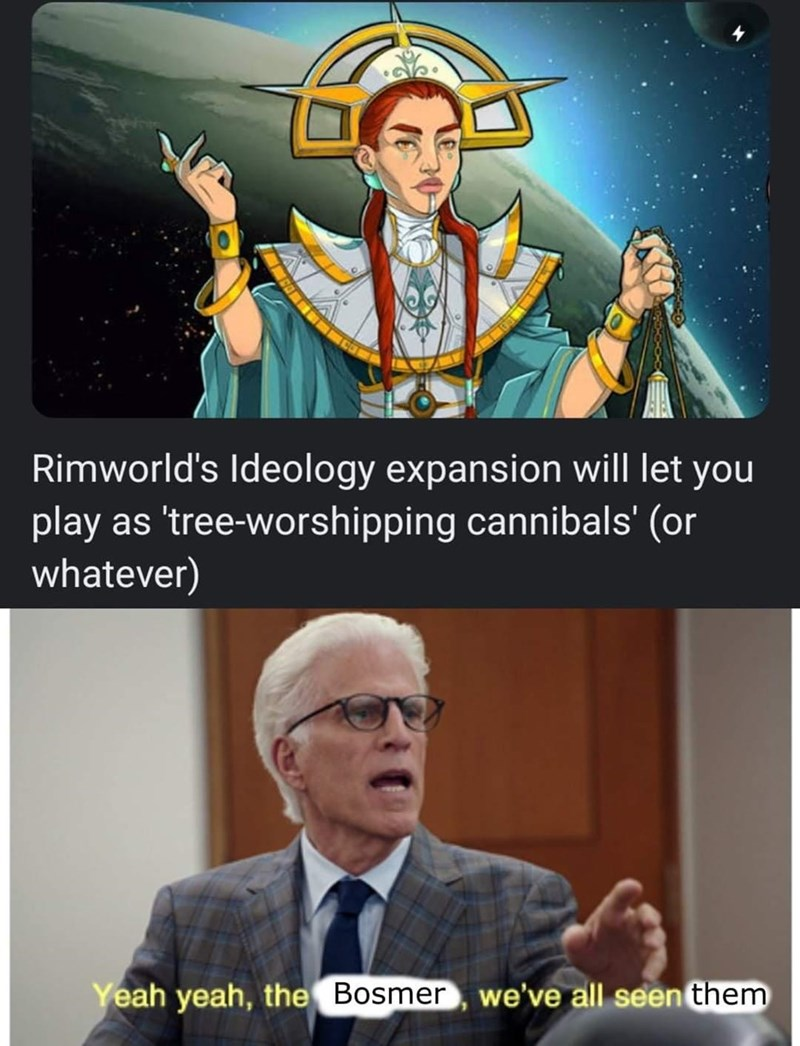 Glasses - Rimworld's Ideology expansion will let you play as 'tree-worshipping cannibals' (or whatever) Yeah yeah, the Bosmer, we've all seen them