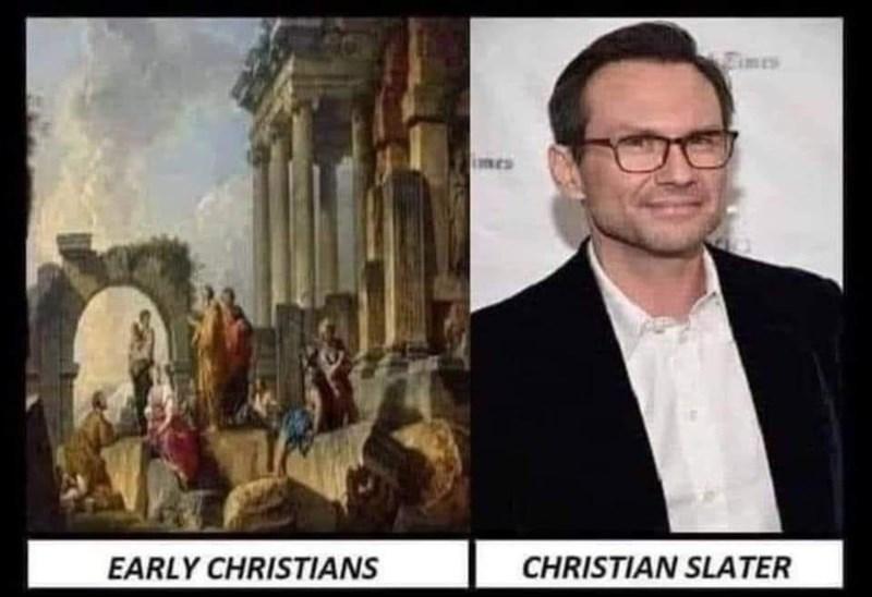 Glasses - Eimes imes EARLY CHRISTIANS CHRISTIAN SLATER