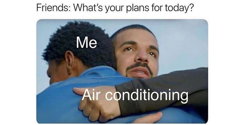 Hair - Friends: What's your plans for today? Me Air conditioning