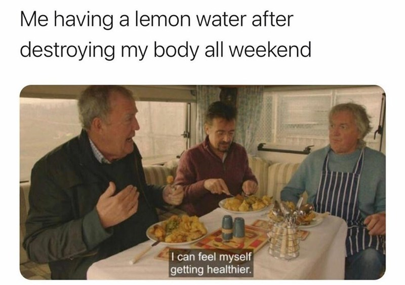 Tableware - Me having a lemon water after destroying my body all weekend I can feel myself getting healthier.