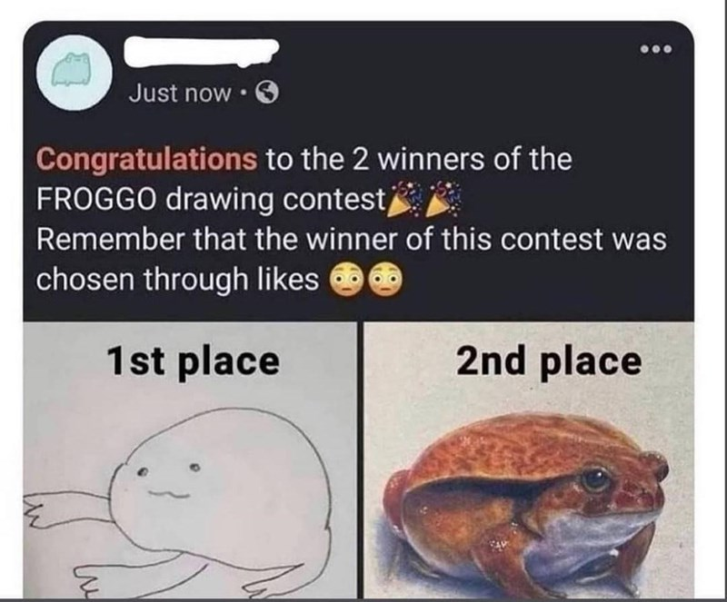 Recipe - Just now • Congratulations to the 2 winners of the FROGGO drawing contest Remember that the winner of this contest was chosen through likes 1st place 2nd place