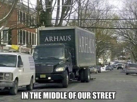 Automotive parking light - ARHAUS IN THE MIDDLE OF OUR STREET