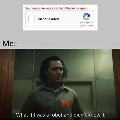 Forehead - Your respanse was incorrect. Please try again. I'm not a robot reCAPTCHA Pecy-Terme Me: What if I was a robot and didn't know it