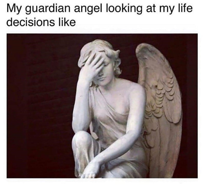 Mythical creature - My guardian angel looking at my life decisions like