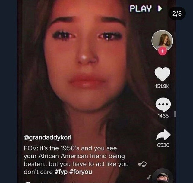 Nose - PLAY 2/3 151.8K 1465 @grandaddykori 6530 POV: it's the 1950's and you see your African American friend being beaten... but you have to act like you don't care #fyp #foryou