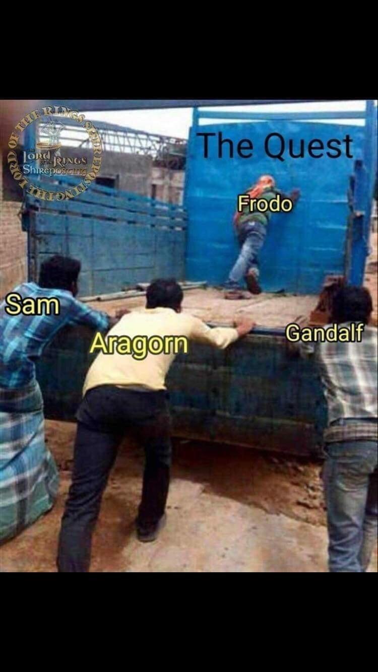World - THE LORG RINGS ShiReposcing The Quest Frodo Sam Aragorn Gandalf