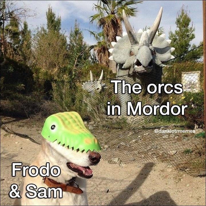 Sky - The orcs in Mordor @danklotrmemes Frodo & Sam