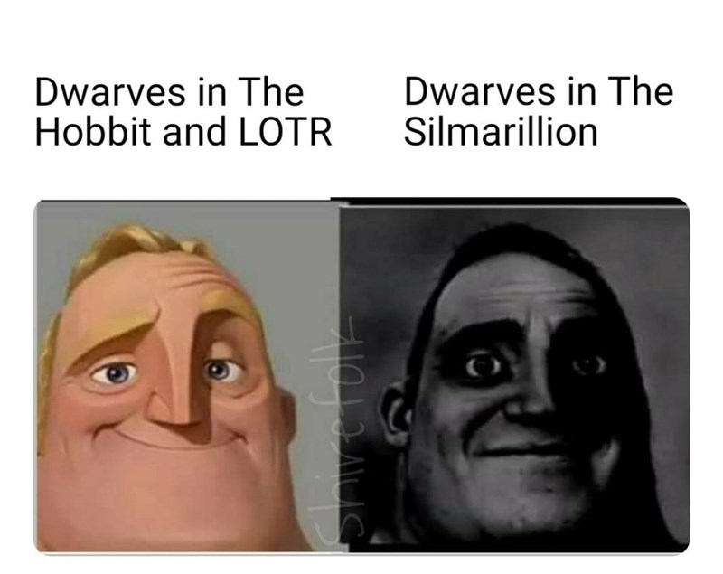 Forehead - Dwarves in The Hobbit and LOTR Dwarves in The Silmarillion Shvefole