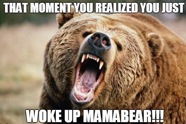 Ecoregion - THAT MOMENT YOU REALIZED YOU JUST WOKE UP MAMABEAR!