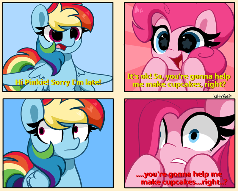 pinkie pie kitty rosie Memes cupcakes for the better right rainbow dash - 9628938496