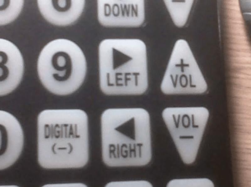 Office equipment - DOWN 9. LEFT VOL VOL DIGITAL (-) RIGHT