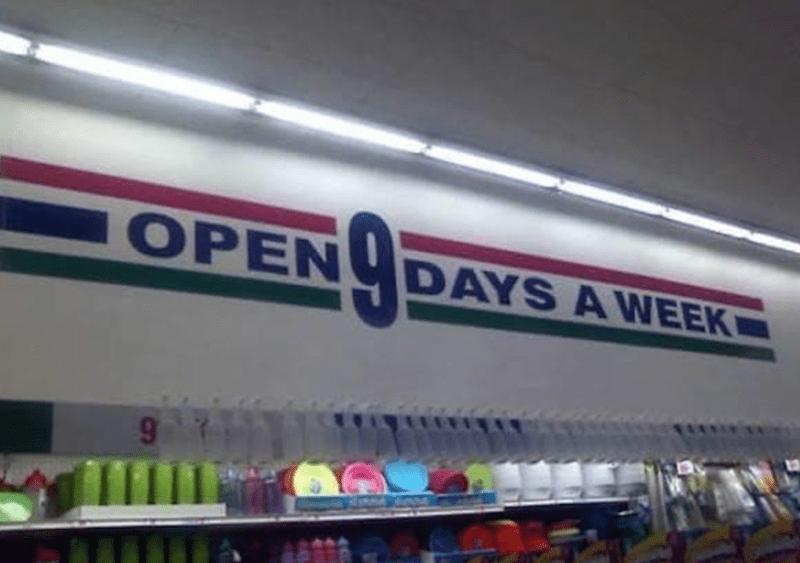 Shelf - OPEN DAYS A WEEK