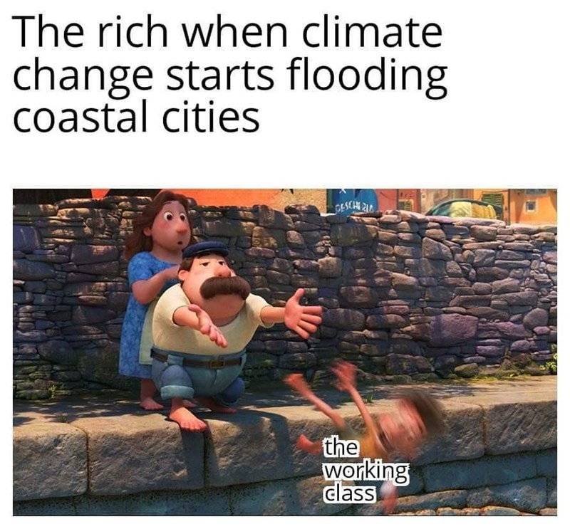 World - The rich when climate change starts flooding coastal cities CESCHE RIC the working class
