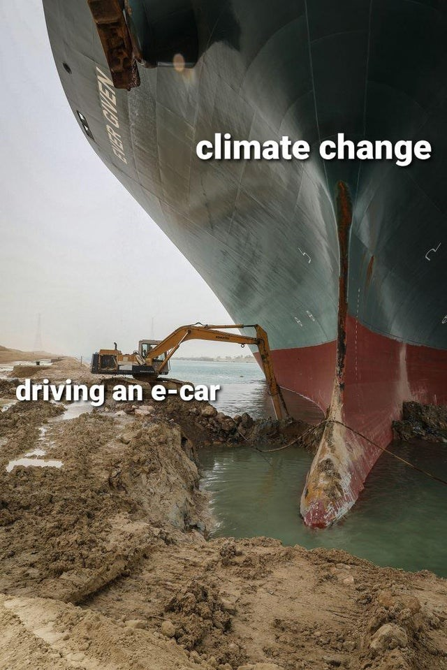 Water - climate change driving an e-car NEMD HEAS