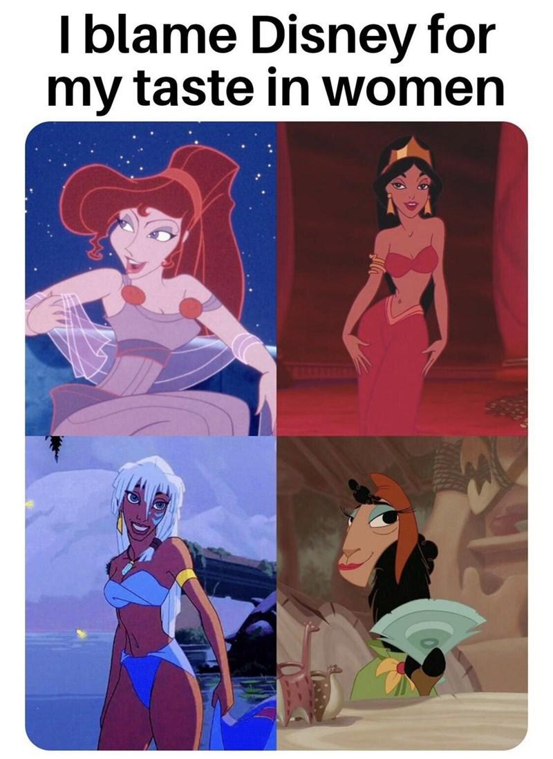 Cartoon - I blame Disney for my taste in women NE