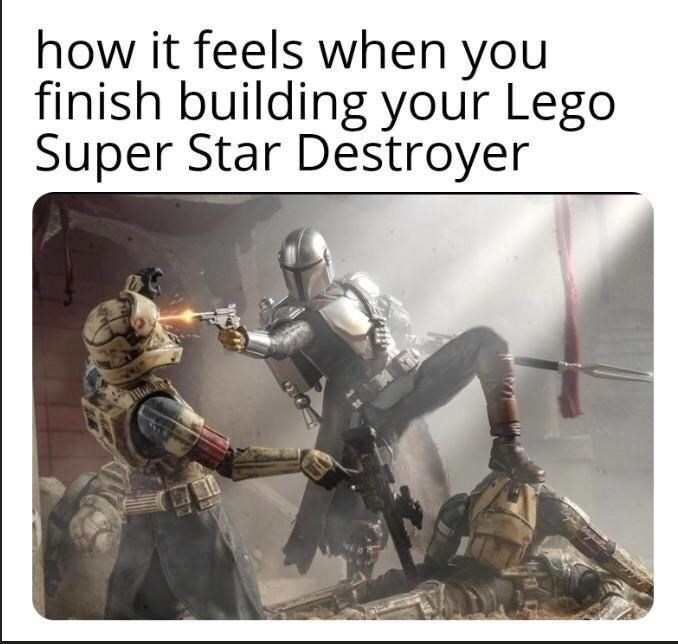 Helmet - how it feels when you finish building your Lego Super Star Destroyer