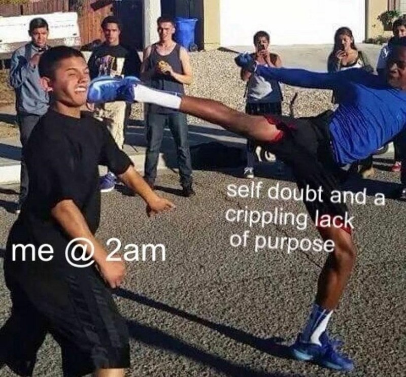 Shorts - self doubt and a crippling lack of purpose 'me @ 2am