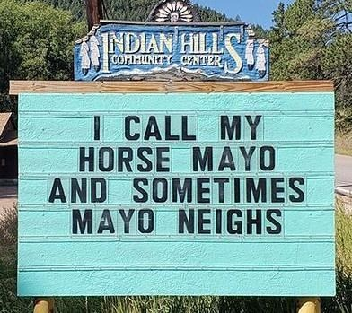Property - INDIAN HILL COMMUNITY CENTER I CALL MY HORSE MAYO AND SOMETIMES MAYO NEIGHS