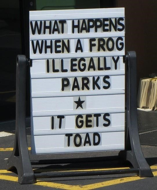 Motor vehicle - WHAT HAPPENS WHEN A FROG ILLEGALLY PARKS IT GETS TOAD