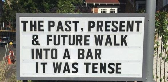 Motor vehicle - THE PAST, PRESENT & FUTURE WALK INTO A BAR IT WAS TENSE