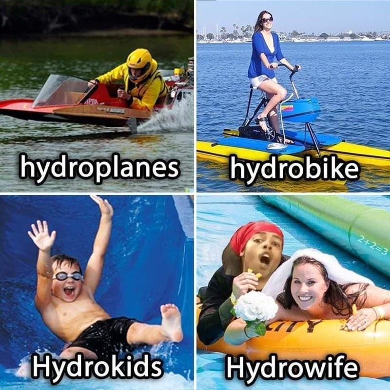 Water - hydrobike hydroplanes 2+2=3 Hydrokids Hydrowife