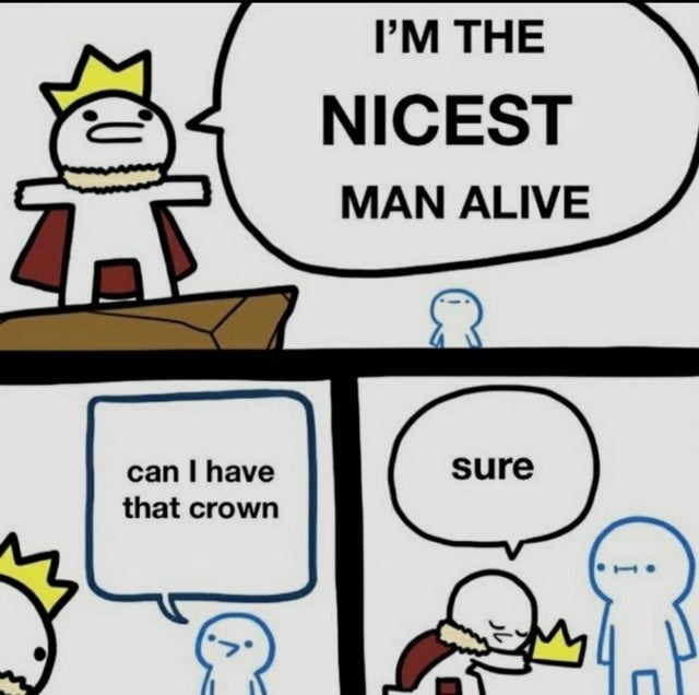 Hairstyle - I'M THE NICEST MAN ALIVE can I have that crown sure