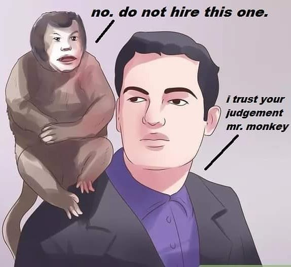 Forehead - no. do not hire this one. i trust your judgement mr. monkey