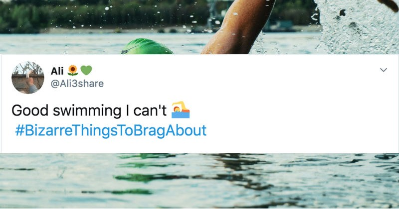 Various Twitter users share bizarre things to brag about.
