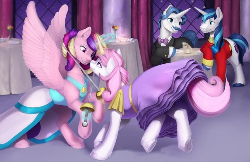 silfoe princess cadence fleur de lis shining armor fancy pants - 9631098880